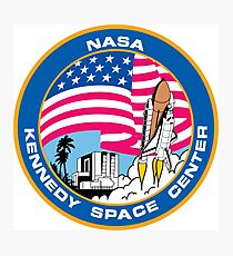 old logo kennedy space center Photographic Print