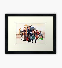 Doctor Who - Series 9 Caricature Framed Print