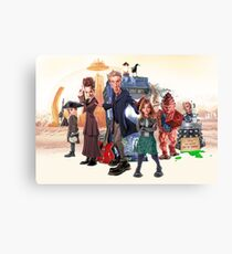Doctor Who - Series 9 Caricature Canvas Print