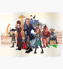 Doctor Who - Series 9 Caricature Poster