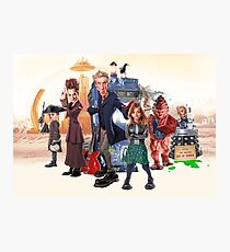 Doctor Who - Series 9 Caricature Photographic Print