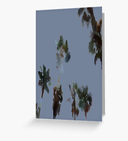 Tropical Palms Trees Isolated Greeting Card