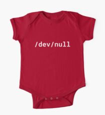 /dev/null - Funny Design for Linux/Unix Geeks - White Text Kids Clothes
