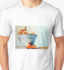 Watercolor painting of apricots in a bowl T-Shirt