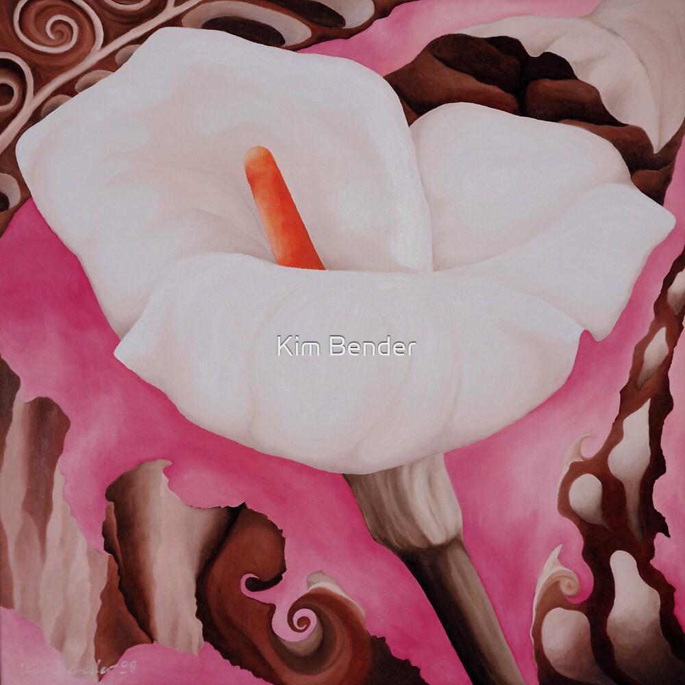 White Calla Lily by Kim Bender