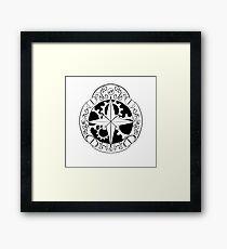 Steampunk compass Framed Print
