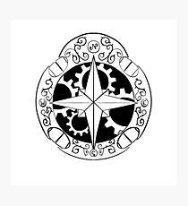 Steampunk compass Photographic Print