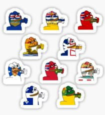 Punching Pepe (Canada Provinces) Sticker