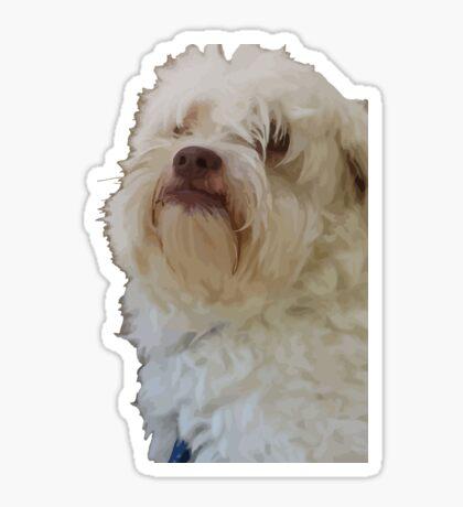 Grumpy Terrier Dog Face Sticker