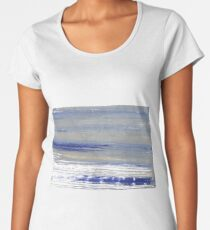 Spanish gray abstract watercolor background Women's Premium T-Shirt