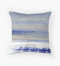 Spanish gray abstract watercolor background Throw Pillow