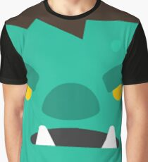 Cartoon Orc Face Emoticon Graphic T-Shirt
