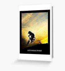 LIFES WINDING JOURNEY: Bicycle Racing Print Greeting Card