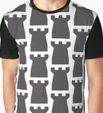 Chess Castle, Silhouette Graphic T-Shirt
