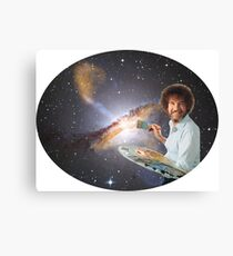 Bob Ross Universe Canvas Print