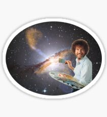 Bob Ross Universe Sticker