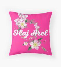 Olaj Arel Flores 2 Throw Pillow