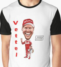 Sebastian Vettel No 5 - 2017 Graphic T-Shirt