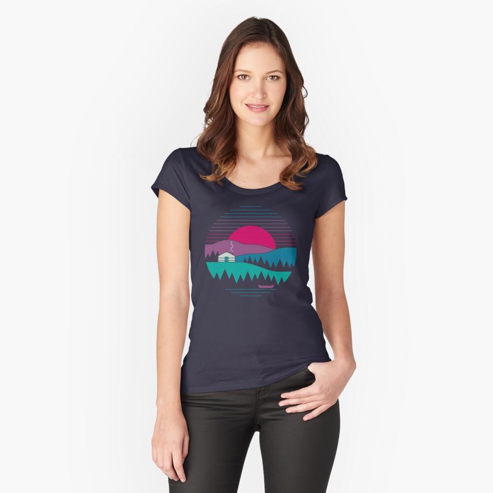 Zurück zum Wesentlichen Tailliertes Rundhals-Shirt