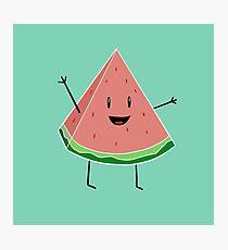 Walter Melon - Cute Salad Photographic Print