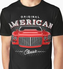 Chevy Camaro Classic Muscle Car Red Graphic T-Shirt