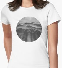 Balloon ride over the alps 1 Womens Fitted T-Shirt