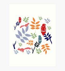 Yggdrasil folk art Art Print
