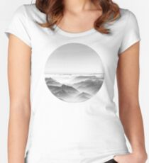 Balloon ride over the alps 2 Women's Fitted Scoop T-Shirt