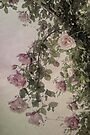 Textured Hanging Roses by Elaine Teague