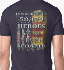 Veteran Gifts - In Honor Of The 58479 Heroes T-Shirt