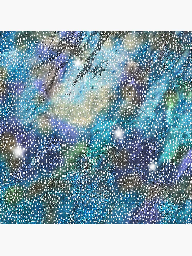 RB201, Bling Look Textiles, Fabrics, Bluish w/Stars by Yapsalot