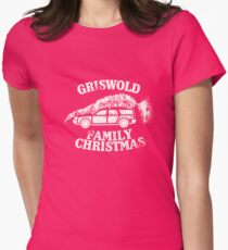 A Griswold Family Christmas - White on Red Womens Fitted T-Shirt