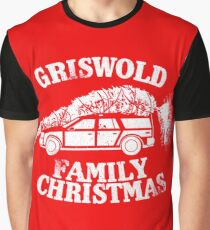 A Griswold Family Christmas - White on Red Graphic T-Shirt
