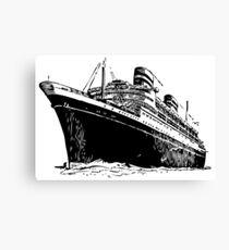 Cruise Ship, Ocean Liner, Ship, Trans Atlantic Canvas Print