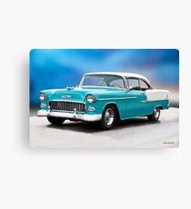 1955 Chevrolet Bel Air Two-Door Hardtop Canvas Print