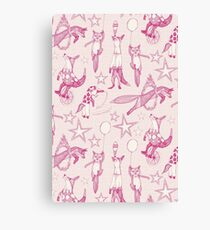 foxy circus pink ivory Canvas Print