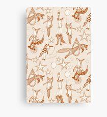 foxy circus rust ivory Canvas Print