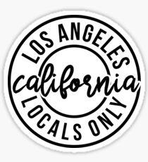 LOS ANGELES LOCALS ONLY  Sticker