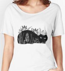 Chat de jardin en noir et blanc T-shirts coupe relax