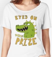 Eyes on the prize dinosaur Women's Relaxed Fit T-Shirt