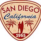 San Diego California Surfing Surf Surfer Surfboard Ocean Beach by MyHandmadeSigns