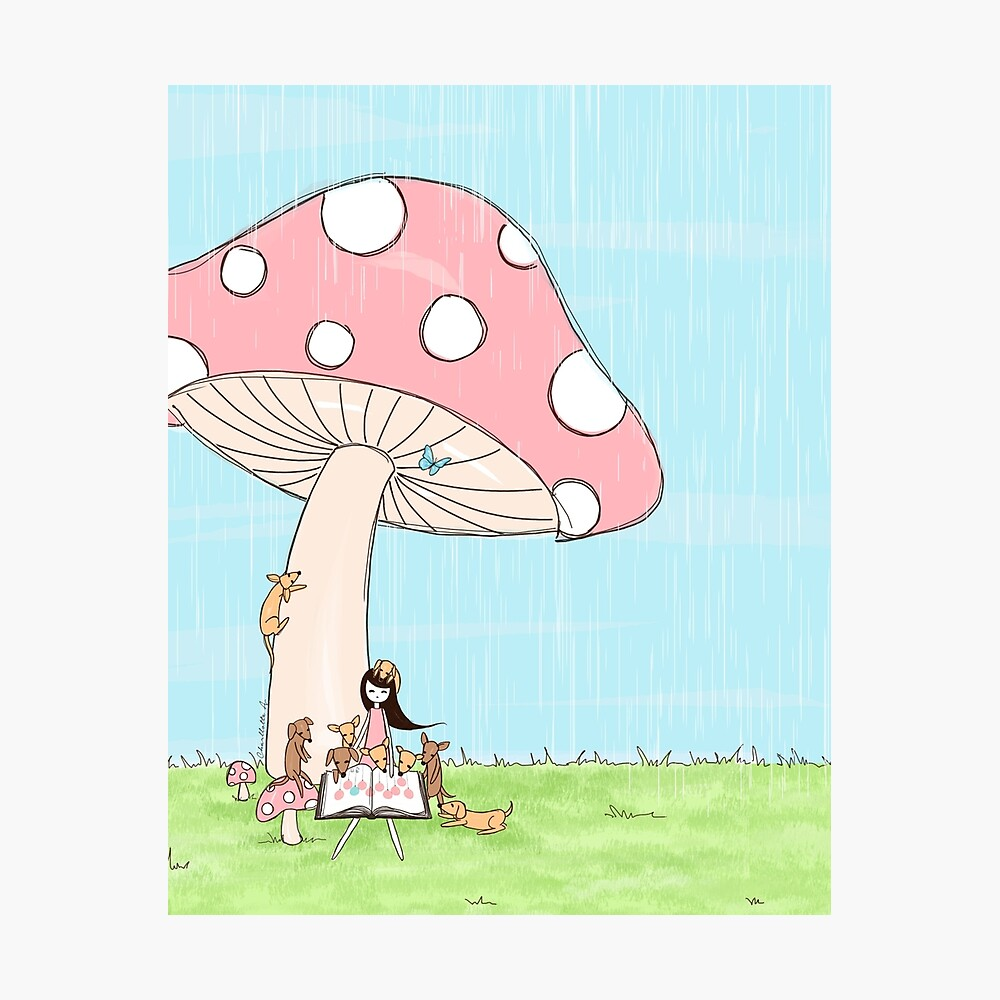 Under The Mushroom Photographic Print