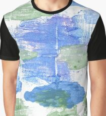 Jordy blue abstract watercolor background Graphic T-Shirt
