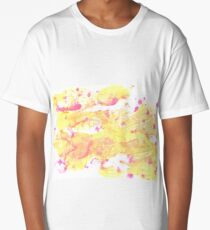 Very pale yellow abstract watercolor background Long T-Shirt