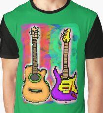 Pixel Guitars Graphic T-Shirt