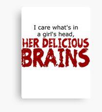 Delicious brains Canvas Print