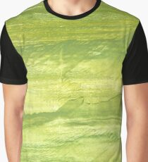 Android green abstract watercolor background Graphic T-Shirt