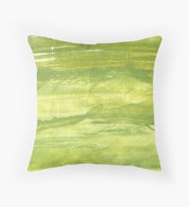 Android green abstract watercolor background Throw Pillow