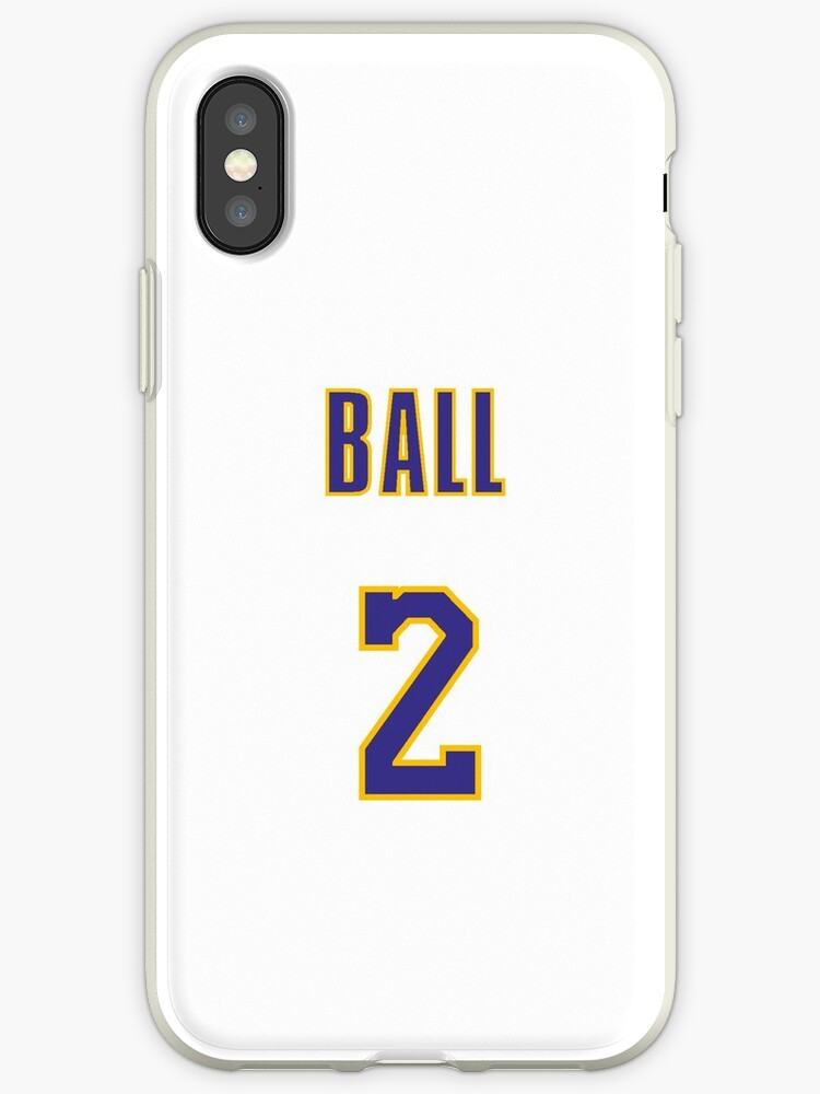 more photos f8473 139d5 'Lonzo Ball 2 Lakers Jersey Phone Case' iPhone Case by Shaun Tayaba