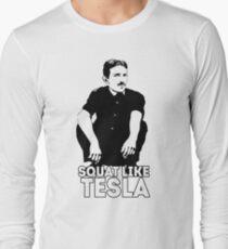 Tesla Squating Long Sleeve T-Shirt